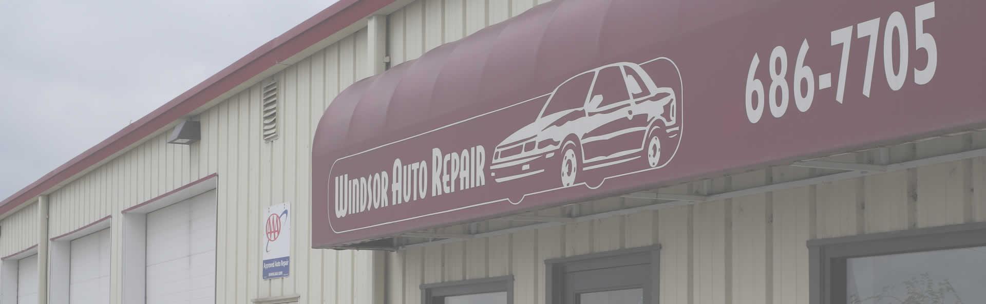 Windsor Auto Repair Store Front