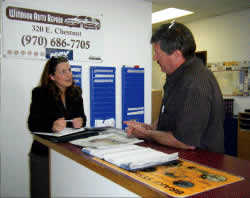 Front Desk at Windsor Auto Repair